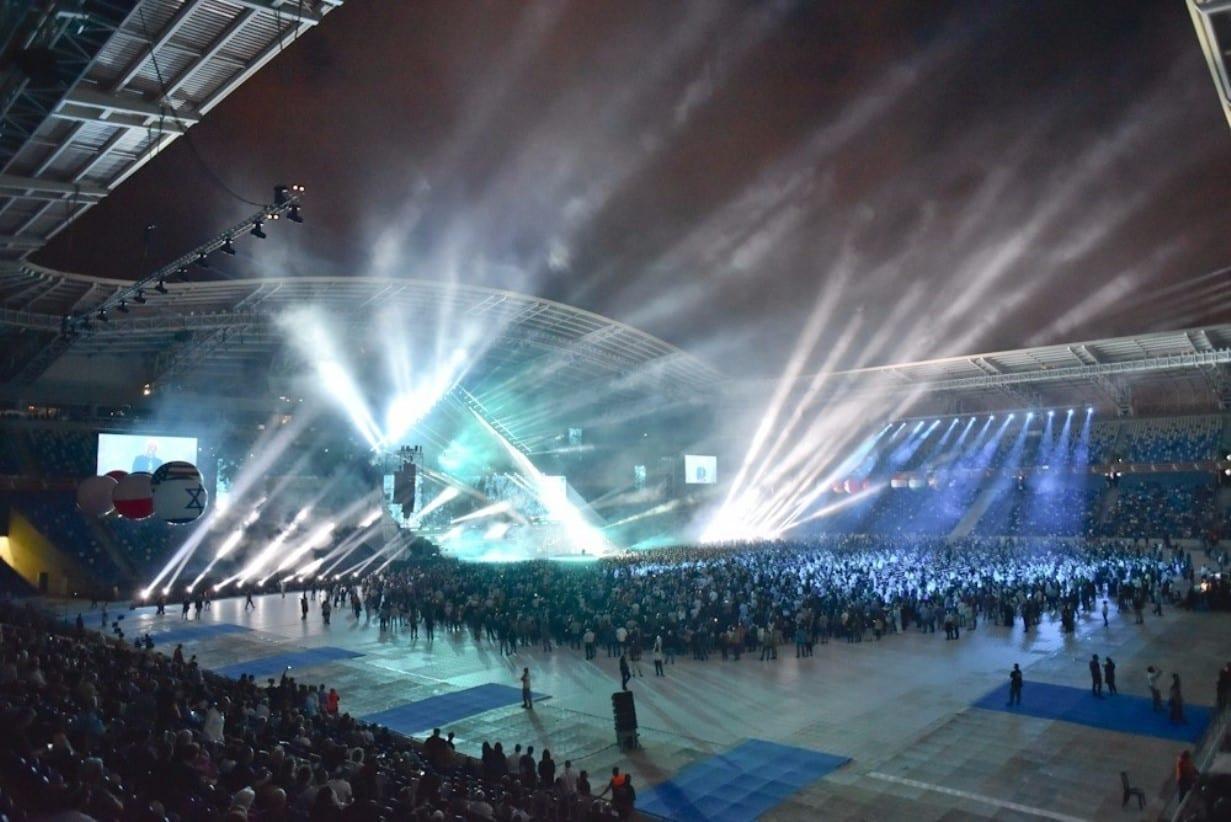 הופעה חיה באירוע אלביט באצטדיון סמי עופר