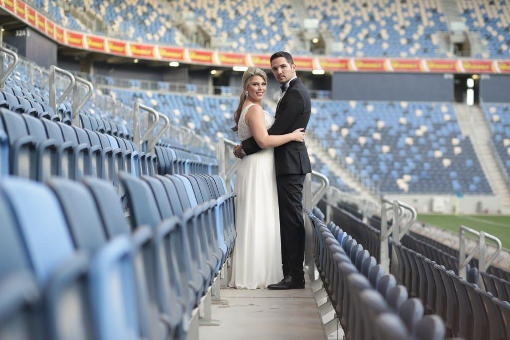 צילומי זוגיות ביציעי אצטדיון סמי עופר
