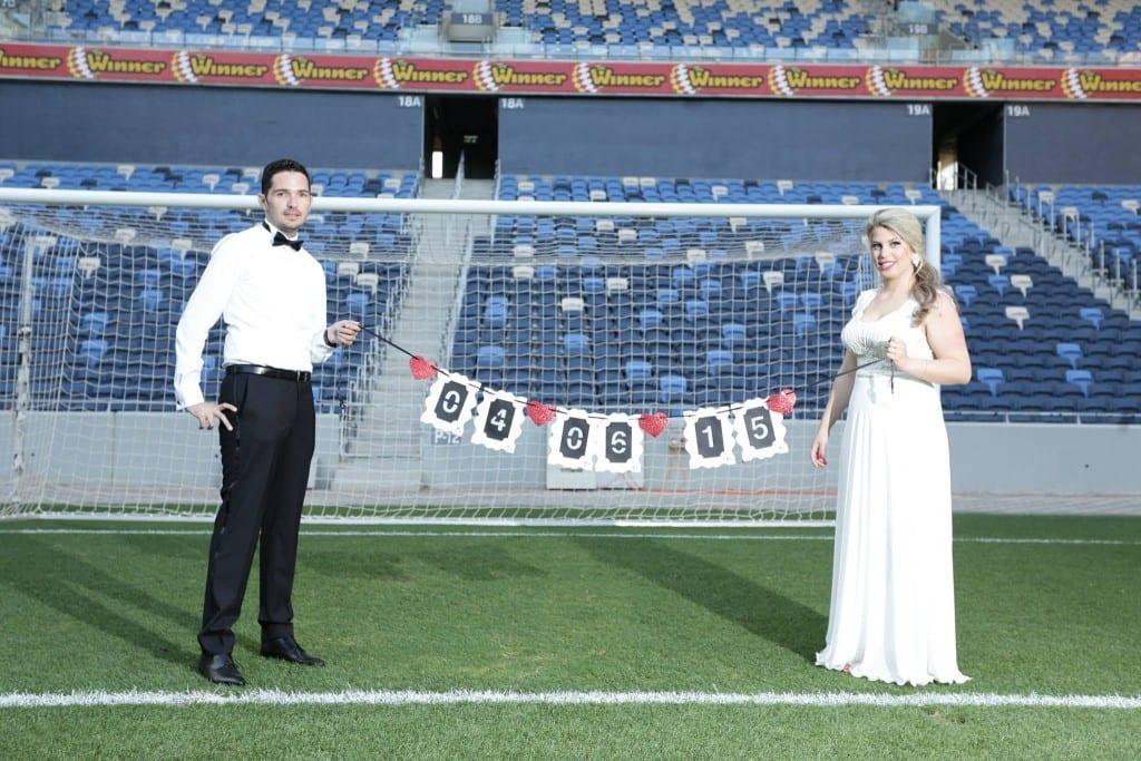 צילומי SAVE THE DATE באצטדיון סמי עופר