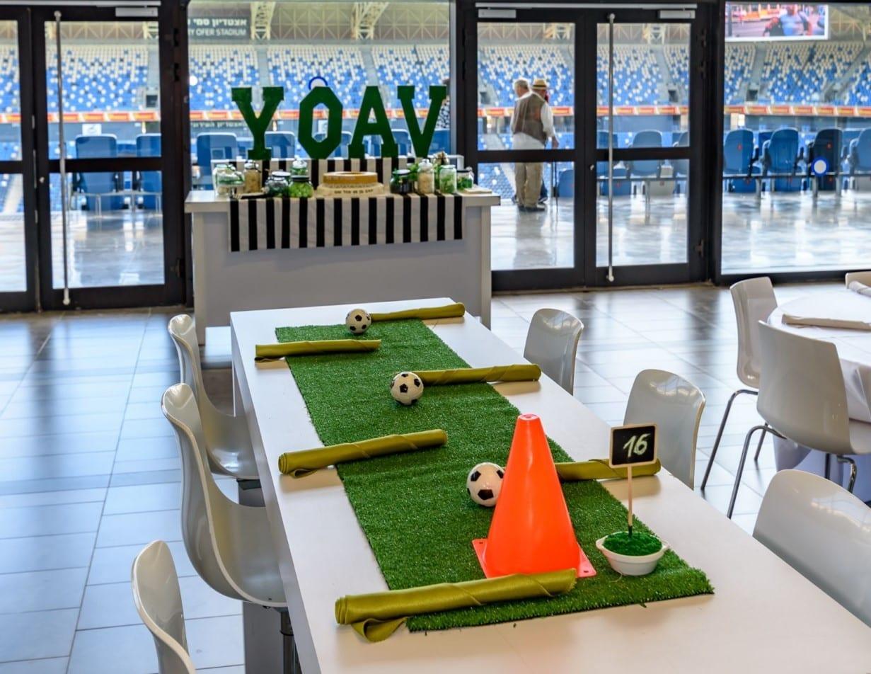 שולחן לאירוע בר מצווה באצטדיון