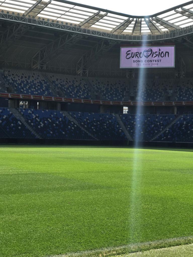 צילומים באצטדיון לתחרות האירוויזיון 2019
