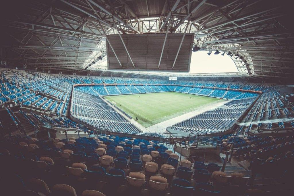 כר הדשא באצטדיון סמי עופר חיפה
